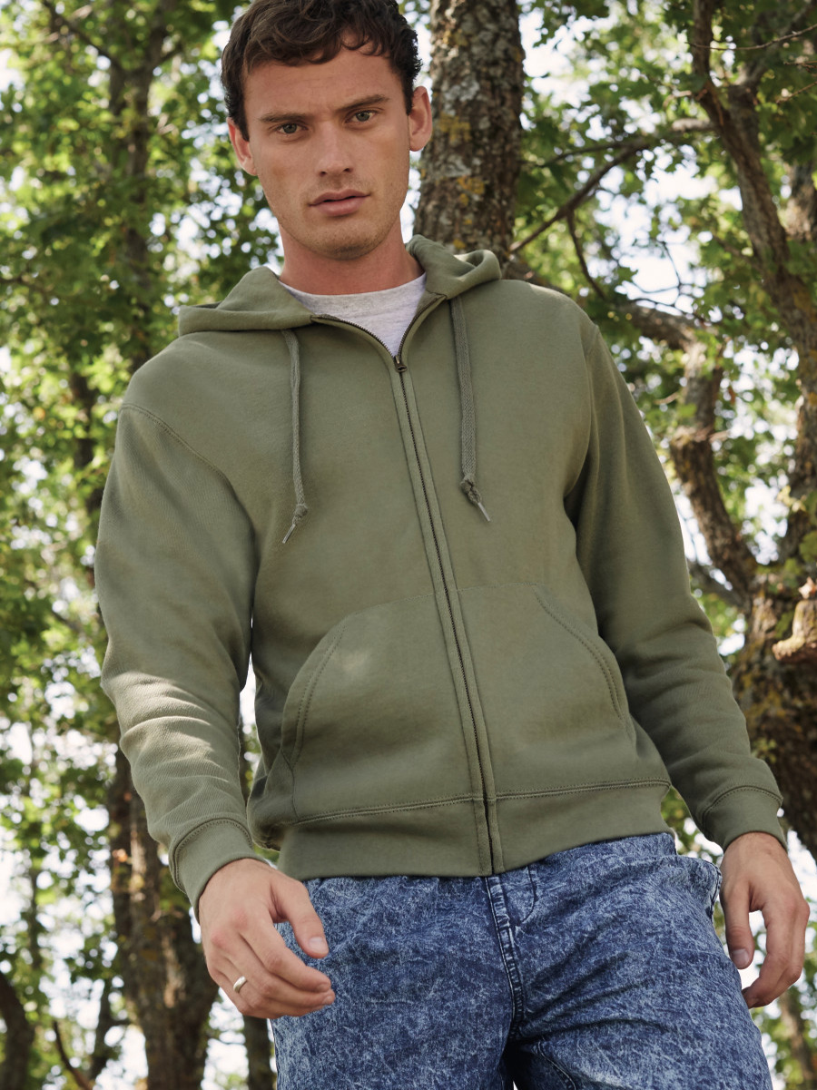 62062 Men's Classic Hooded Sweat Jacket