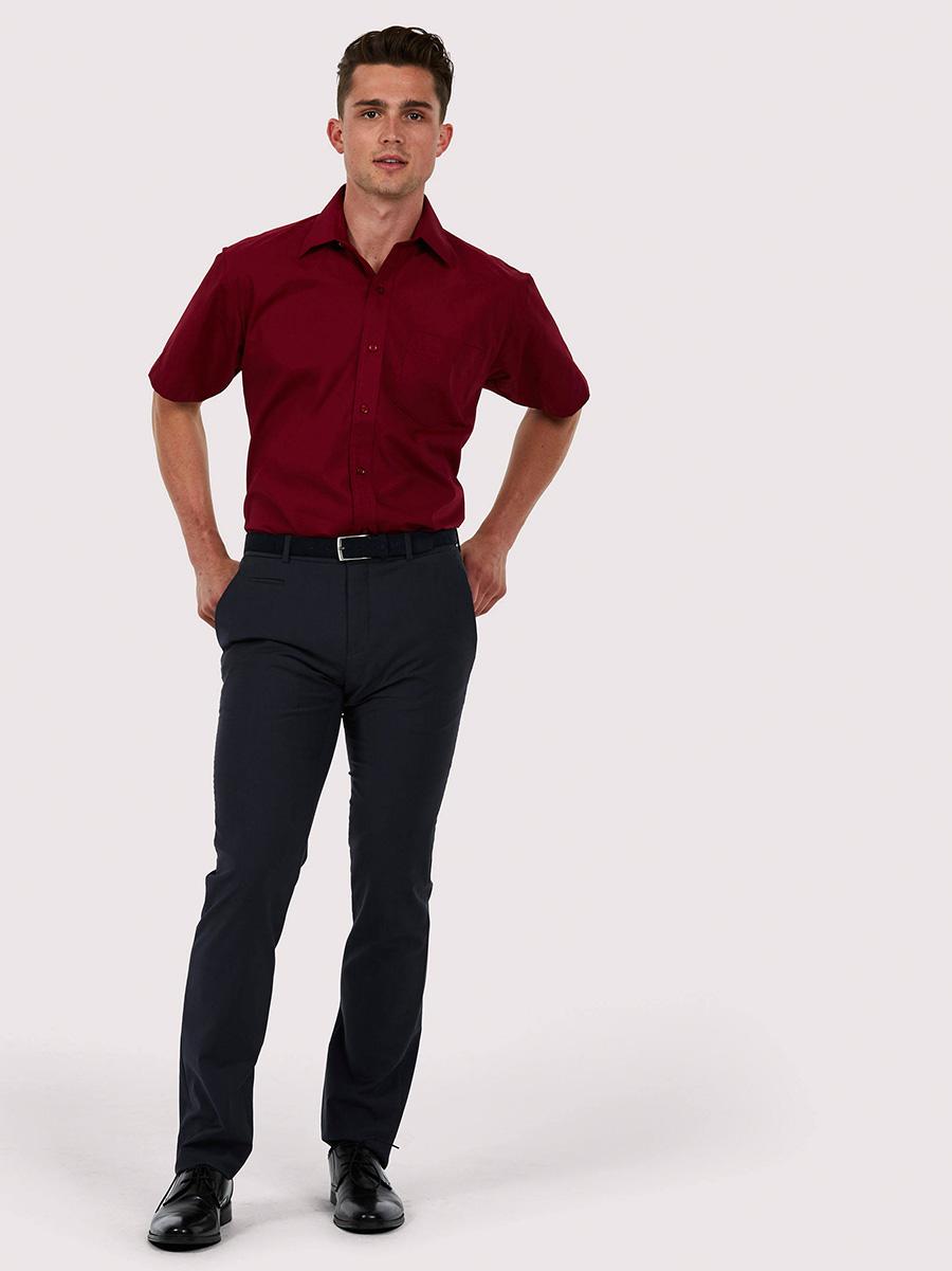 UC710 Mens Poplin Half Sleeve Shirt