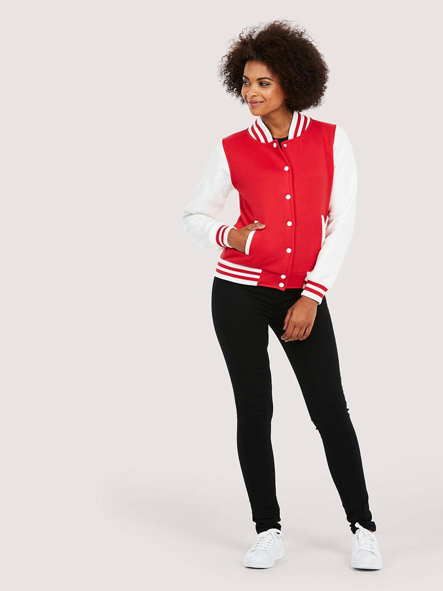 UC526 Ladies Varsity Jacket