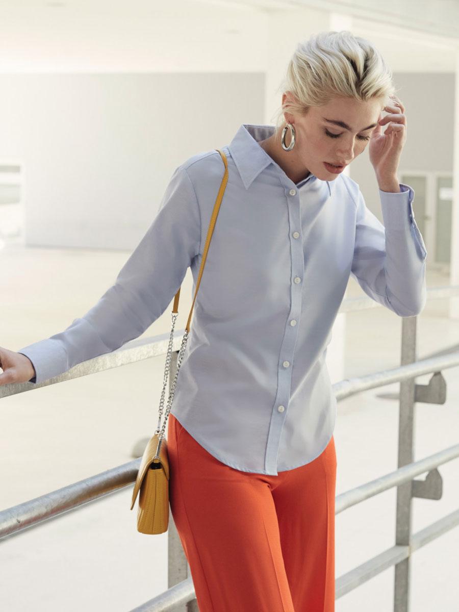 Ladies' Long Sleeve Oxford Shirt