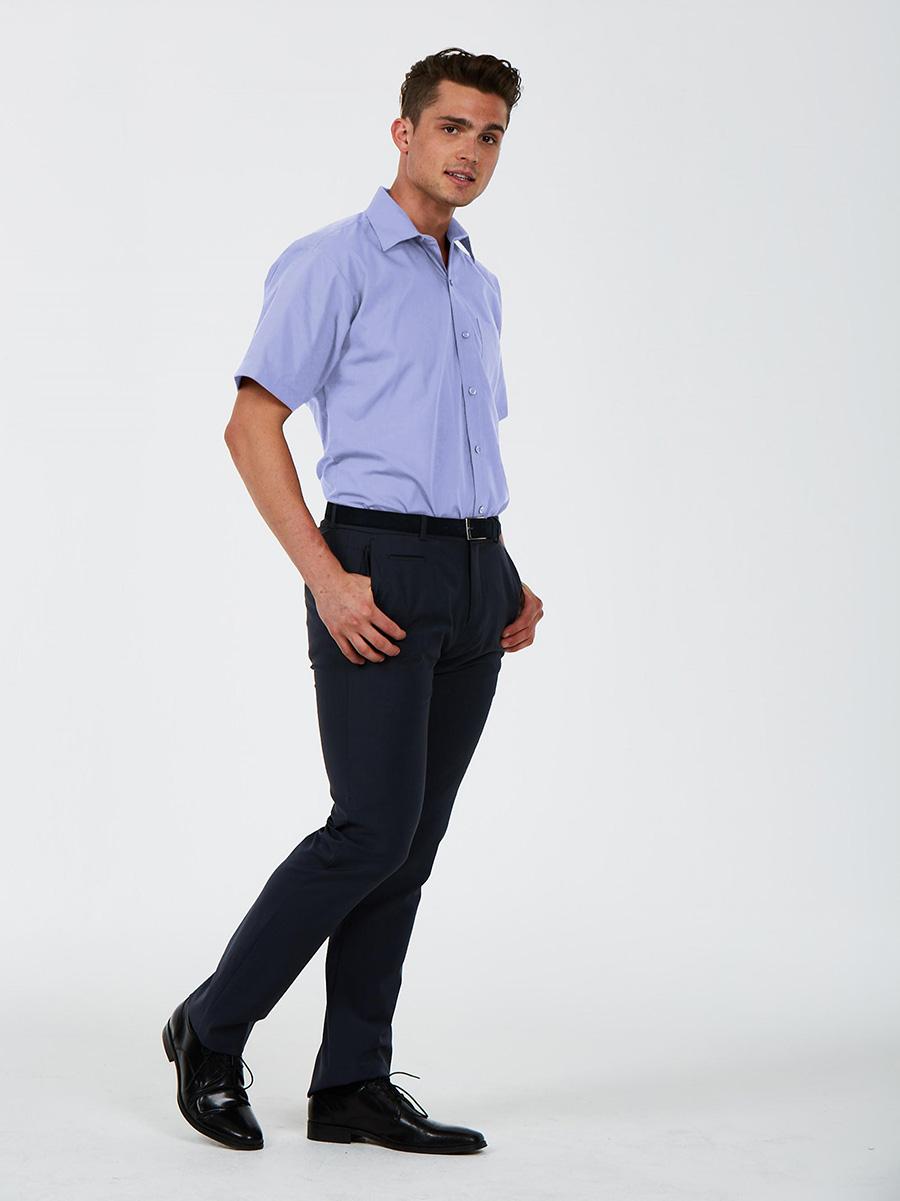 UC714 Men's Tailored Fit Short Sleeve Poplin Shirt