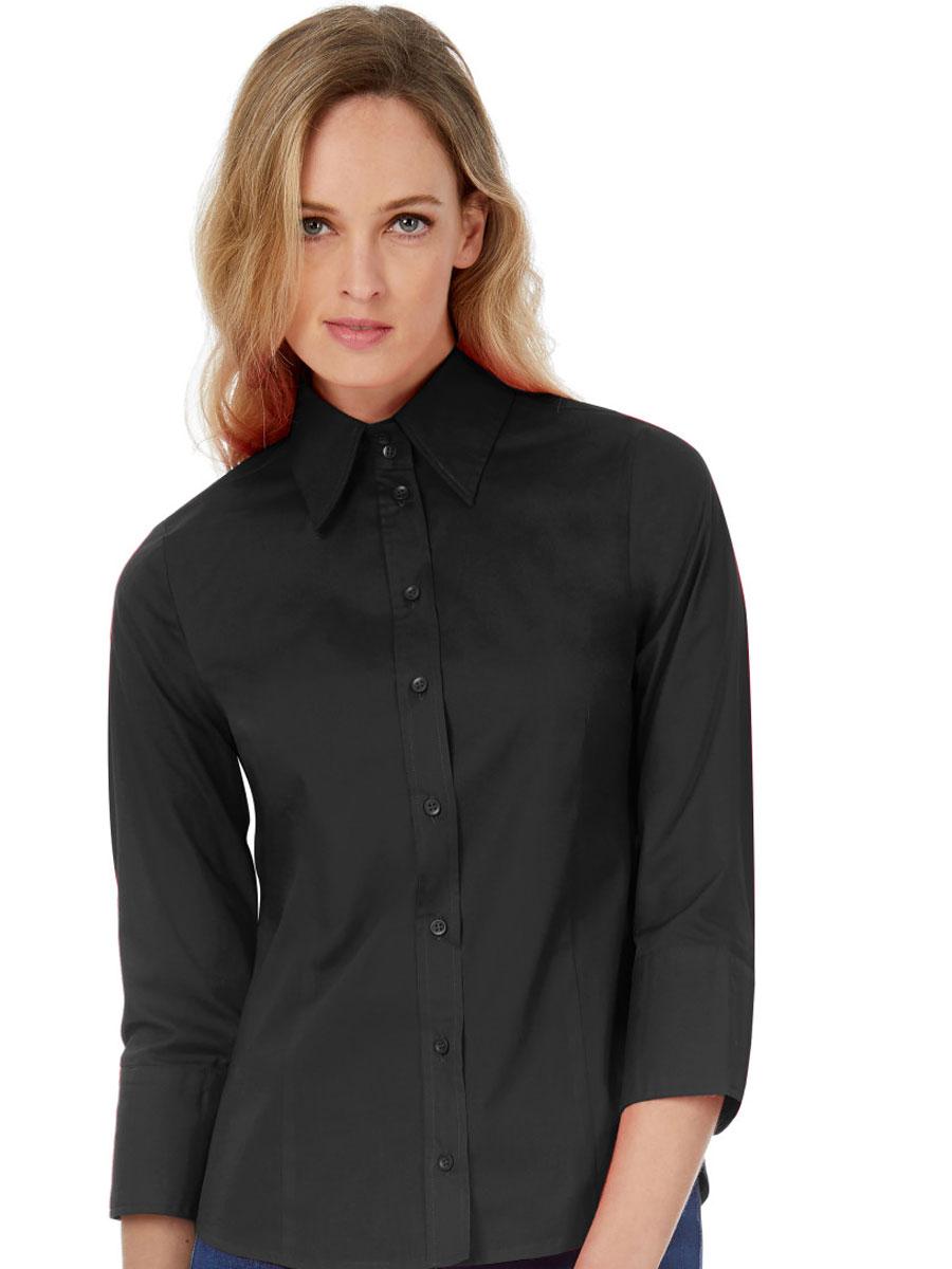 Women's Milano Poplin 3/4 Sleeve Shirt