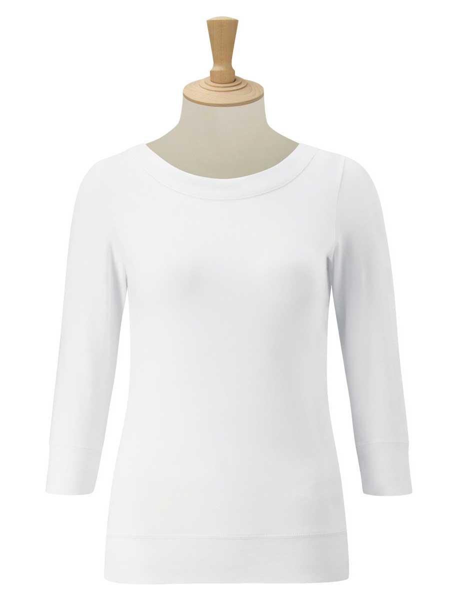 Ladies' 3/4 Sleeve Stretch Top